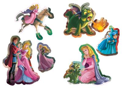 Аврора и драконът: Чети, оцвети, залепи!