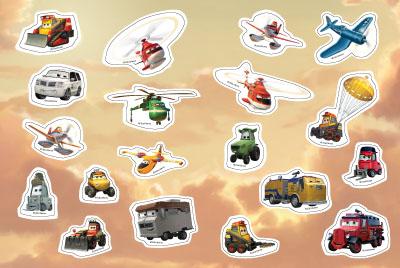 Самолети: Спасителен отряд: Забава с лепенки 1