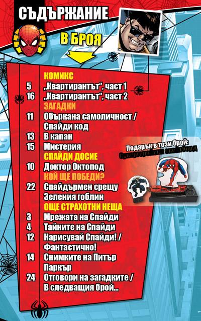 Списание СПАЙДЪРМЕН